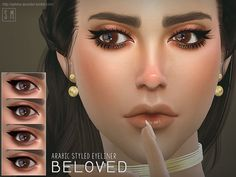 An Arabic styled eyeliner in three options.  Found in TSR Category 'Sims 4 Female Eyeliner'