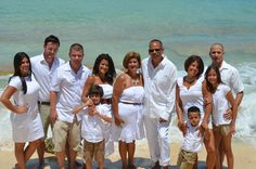 Wearing all white on the beach, a family portrait idea!