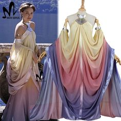 2017 star wars costume Revenge of the Sith Padme Amidala lake dress Star Wars Padme Amidala costume cosplay dress custom made-in Clothing from Novelty & Special Use on Aliexpress.com | Alibaba Group