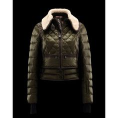 Billiga Moncler Grenoble Alsace Dam Military Grön Moncler Snow Jacka Teen  Fashion 06d160d50e82c