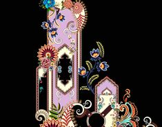 Egypt Jewelry, Baroque Decor, Boarders, Colorful Drawings, Muhammad, Diy Flowers, Textile Design, Flower Art, Design Elements