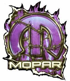 Purple Mopar Logo