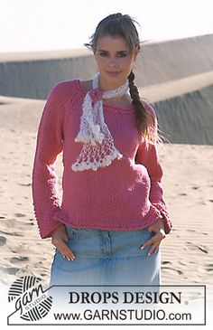 DROPS 89-8 - DROPS Pullover in Drops Ice - Free pattern by DROPS Design