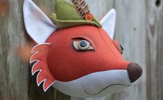 Wall mounted fox head