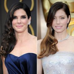 Old Hollywood sideswept waves totally have a place at the Oscars #NailedIt.