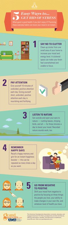 get rid of stress infographic
