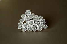 Contemporary Sterling Silver Brooch. by SusanaTeixeiraJewels, $93.00