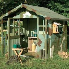 army playhouses for kids | Ideas for decorating a Children's Playhouse