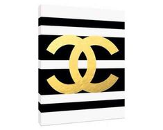 Gold Chanel Logo - Custom Fashion Art Priont - Customizeable Chanel - Home Decor - wall art - fashion art sold by Type & Style. Shop more products from Type & Style on Storenvy, the home of independent small businesses all over the world. Chanel Bedding, Chanel Bedroom, Home Decor Wall Art, Diy Home Decor, Room Decor, Chanel Party, Chanel Decor, Chanel Logo, Coco Chanel