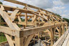 Oak framed house #timberframe by Castle Ring Oak Frame
