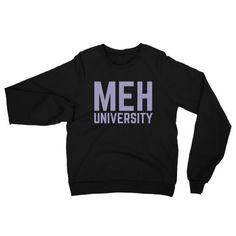 MEH UNIVERSITY PURPLE - Unisex Raglan pullover sweater
