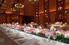 VENETIAN ROOM, PARK HYATT TOKYO, Wedding Table Setting