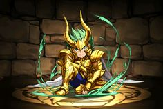 Cavaleiro de ouro - Shura de Capricórnio - versão chibi