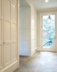Paneled closet door and wall idea
