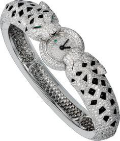 High Jewelry watch White gold, quartz, diamonds, onyx