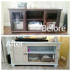 New diy bunny hutch from IKEA console for my Holland Lop! Diy Bunny Hutch, Diy Bunny Cage, Diy Guinea Pig Cage, Guinea Pig Hutch, Guinea Pig House, Bunny Cages, Rabbit Cages, Guinea Pigs, Rabbit Hutch Indoor