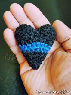 Ravelry: Thin Blue Line Heart pattern by Kelsey Dolezel                                                                                                                                                     More