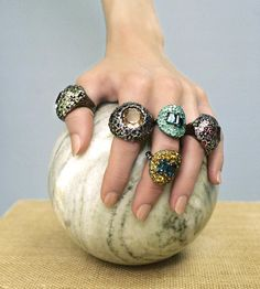 Let's play hardball. Shop these Stephen Dweck rings at Liberty London this fall.