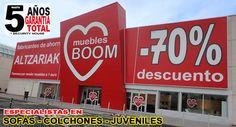 TIENDA DE MUEBLES BOOM en VITORIA - GASTEIZ P. C. GORBEIA - CTRA. MIÑANOMAYOR S/N VITORIA - GASTEIZ  (ARABA)