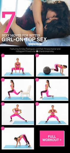 To boost strength where you need it and promote hip flexibility, practice these exercises from one of Instagram's sexiest certified fitness trainers, Ainsley Rodriguez (better known as @HardCoreAinsley). For any of the following moves, do as many reps as you can in 30 to 60 seconds.