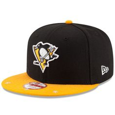 b9590e79a8d Men s New Era Black Gold Pittsburgh Penguins Star Trim Commemorative  Championship 9FIFTY Snapback Adjustable Hat
