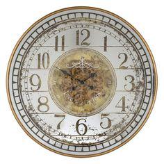 Ceas de perete rotund Richmond Aubrey D 82cm Aubrey Gold, Richmond Interiors, Retro, Wall, Vintage, Home Decor, Luxury Watches, Other, Decoration Home