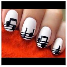 @glamour_heaven #manicure music notes