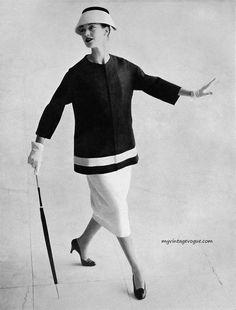 Moda Italiana Spring / Summer 1956  Barbara Mullen wearing Fabiani