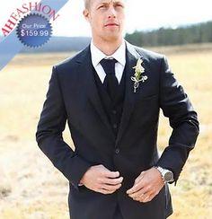 AHFASHION's 2-Button Vested Suit Wedding Suit / Grooms Suits / Groomsmen Suit + Matching Tie