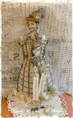 Greetings From Mimi by Lynne Moncrieff working with Character Constructions art stamps.