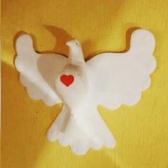 Pomba do Divino Espirito Santo, em feltro, com 80 cm ...