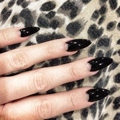 Black half moon nails