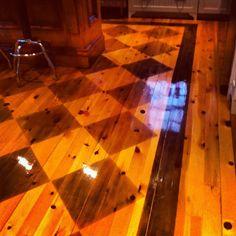 Do you love him Loretta?: Checkerboard Painted Floors