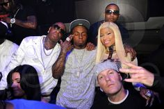 """Birdman, Lil Wayne, Mack Maine, Nicki Minaj & Fred Durst"""