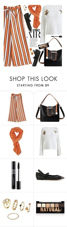 """""""Untitled #3694"""" by beebeely-look ❤ liked on Polyvore featuring Keds, Christian Dior, Valentino, NYX, Tory Burch, StreetStyle, BackToSchool, stripes, streetwear and zaful"""
