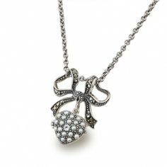 【ABISTE】シルバー925リボン&ハートモチーフネックレス http://www.myjewelbox.abiste.jp/products/detail14174.html