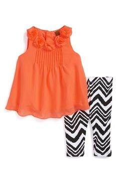 Nicole Miller Sleeveless Tunic & Print Leggings (Baby Girls) | Nordstrom