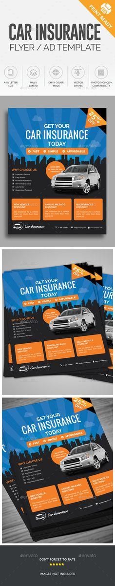 Health Insurance Flyer Template V2 Modello di volantino - car ad template