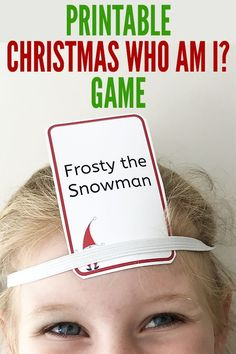 This printable Christmas game is a fun version of the Who Am I game featuring a range of well known characters from Christmas traditional stories books and movies Family. Christmas Games For Family, Xmas Games, Printable Christmas Games, Holiday Games, Holiday Fun, Christmas Holidays, Christmas Activities For Families, Christmas Trivia, Christmas Characters