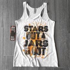 Stars Out Jars Out Tank (heather white)