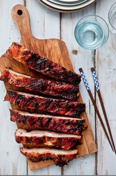Mahogany Glazed Spareribs // More Mouthwatering Ribs Recipes: http://fandw.me/LM5 #foodandwine
