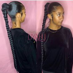 Just for hairs on very neat! tag the source tag ur friends braids edges hairstylist edgescontrolling braidsout updo ponytail Hair Ponytail Styles, Weave Ponytail Hairstyles, Baddie Hairstyles, Sleek Ponytail, Black Girls Hairstyles, Pretty Hairstyles, Curly Hair Styles, Natural Hair Styles, Braided Ponytail Weave