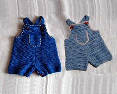 Ravelry: Baby Jeans, Romper, Overalls pattern by Cathy Ren