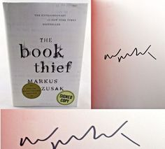 The Book Thief Anniversary First Edition Markus Zusak SIGNED AUTOGRAPHED NEW!   Available at BooksBySam.com