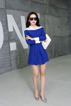 blue, white, unique, style, dress, clearance, ghl0033, europe, uk, usa, desginer, yrb, fashion, elegant,