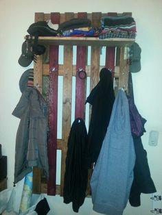 Garderobe aus ner Palette