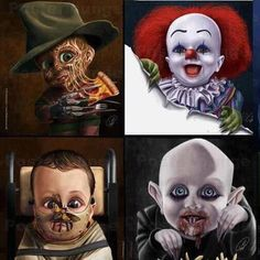 Horror Movie Characters as Kids Horror Movies Horrorfilms Horror Filme Craz & Løvely Things