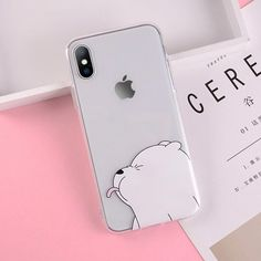 Cartoon Bear Pig Soft TPU Phone Cover Transparent Shell For Iphone - Telefon Funny Phone Cases, Girly Phone Cases, Pretty Iphone Cases, Diy Phone Case, Iphone Phone Cases, Phone Covers, Tumblr Phone Case, S8 Phone, Iphone 10