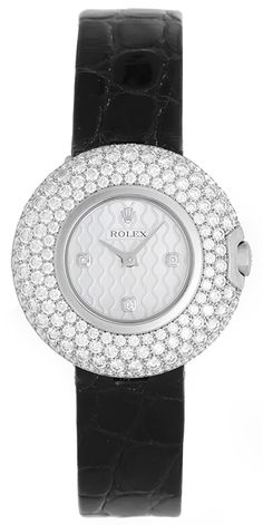 Rolex Cellini Orchid 18k White Gold Ladies Watch