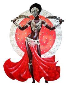 African American Art, African Art, Oya Goddess, Yoruba Orishas, African Goddess, Black Love Art, Black Goddess, Black Artwork, Afro Art